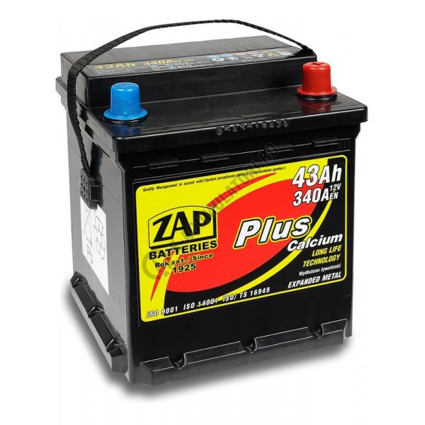 Baterie auto ZAP PLUS 43 Ah-big