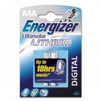 Baterii Ultimate Lithium AAA, blister de 2 buc.-big