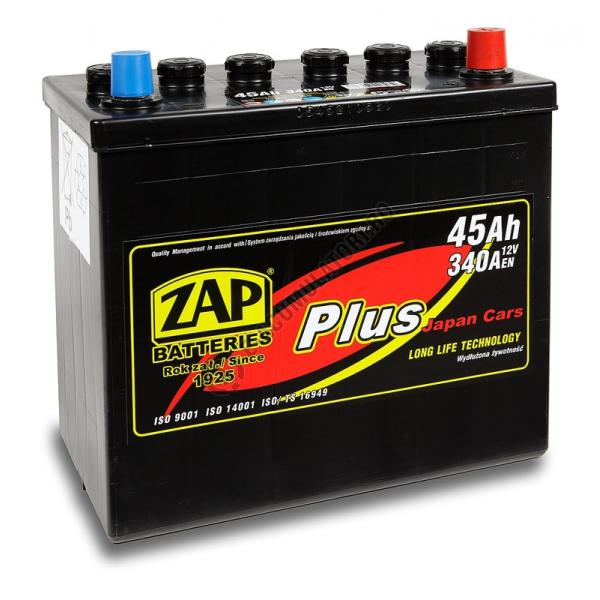 Baterie auto ZAP PLUS JAPAN 45 Ah-big