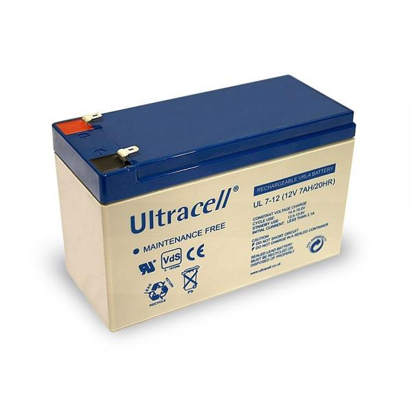 Acumulator VRLA Ultracell 12V, 7Ah UL7-12Vds-big