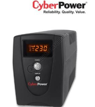 UPS Cyber Power VALUE800ELCD 800VA 480W AVR, LCD Display, 2 x Schuko outputs, USB & Serial port0