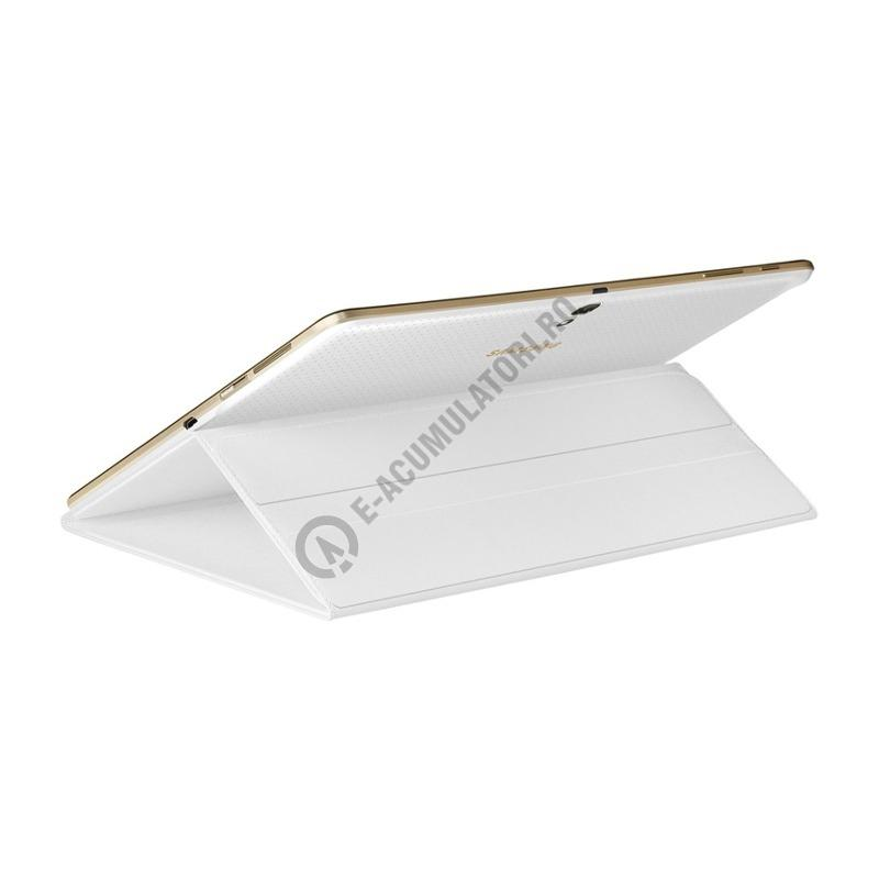 Tab S Book Cover White ~ Husa protectie samsung book cover ef bt bwegww white