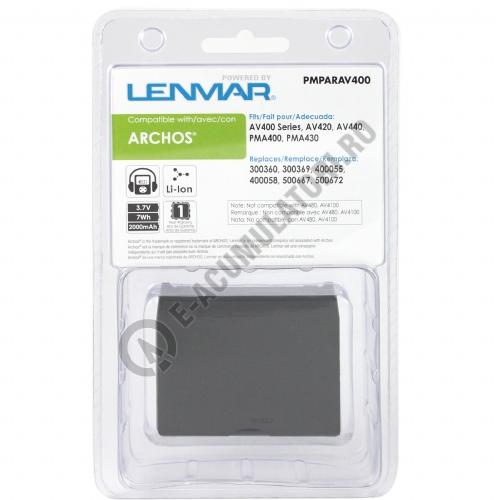lenmar replacement battery for archos av400 series mp3 players. Black Bedroom Furniture Sets. Home Design Ideas
